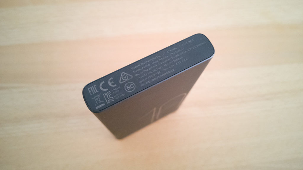 Huawei AP09S Powerbank Unterseite