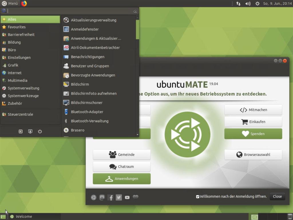 Ubuntu MATE 19.04 Desktop