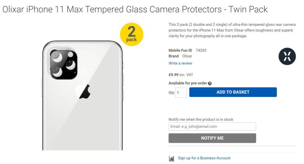 iPhone 11 Kamera-Schutz