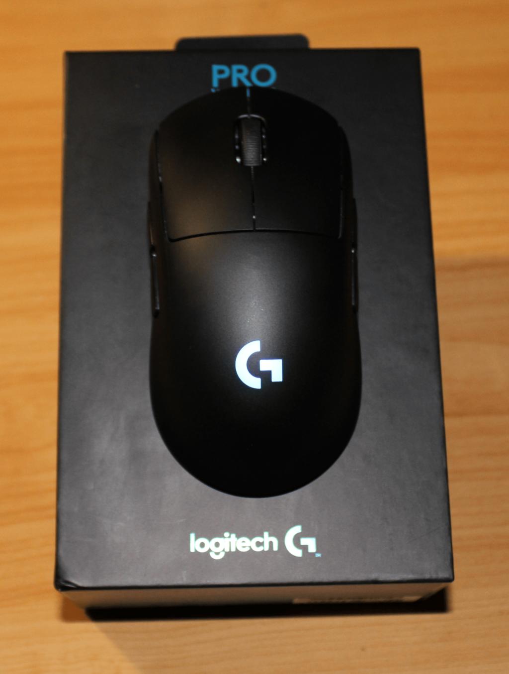 Logitech Pro Wireless auf dem Karton