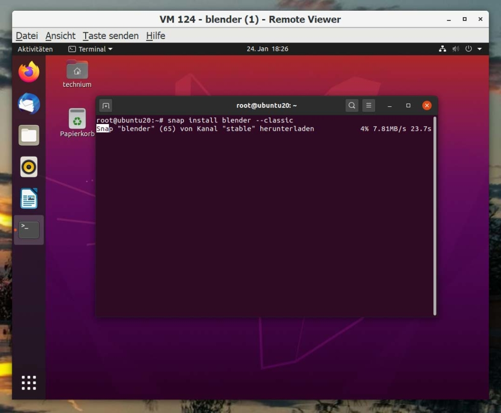Debian Blender installieren - download