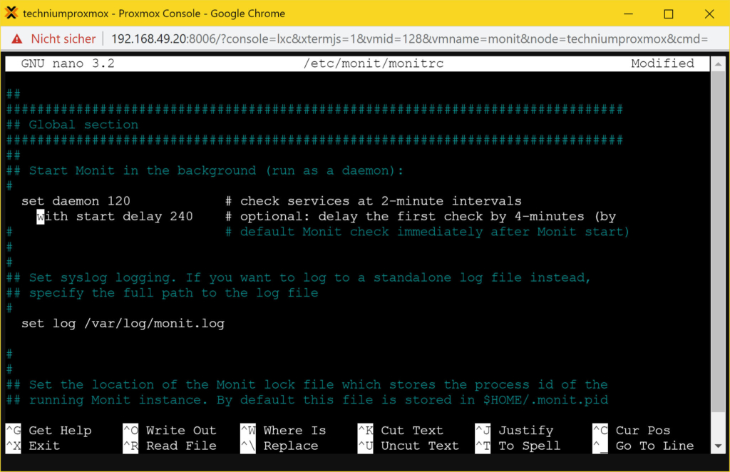 Debian Monit konfigurieren (und installieren) - Tutorial - delay