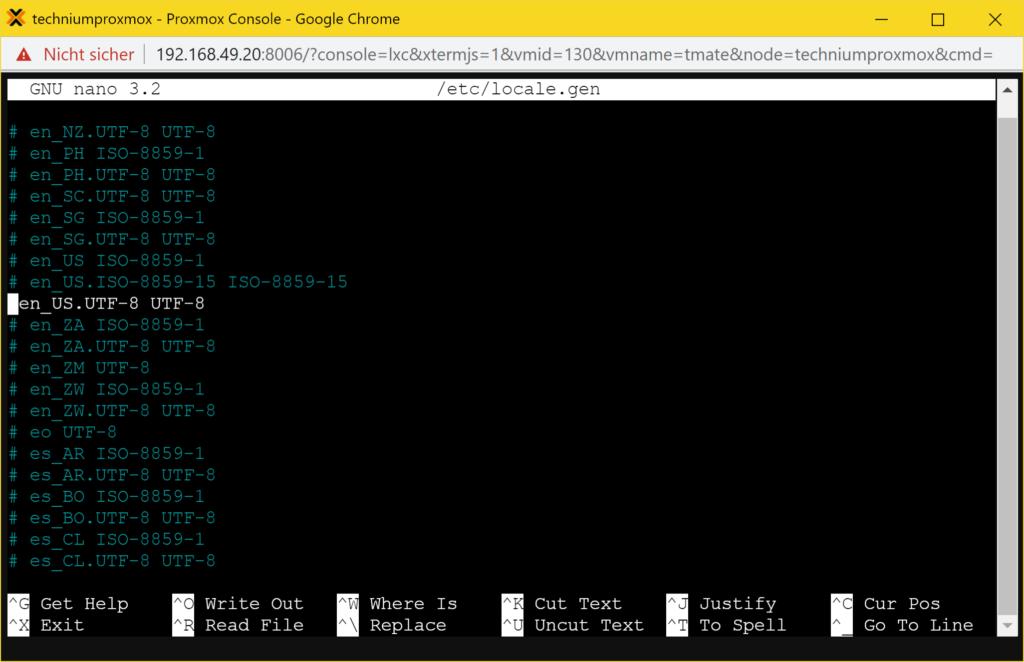 Debian tmate installieren – Tutorial - utf8 fix