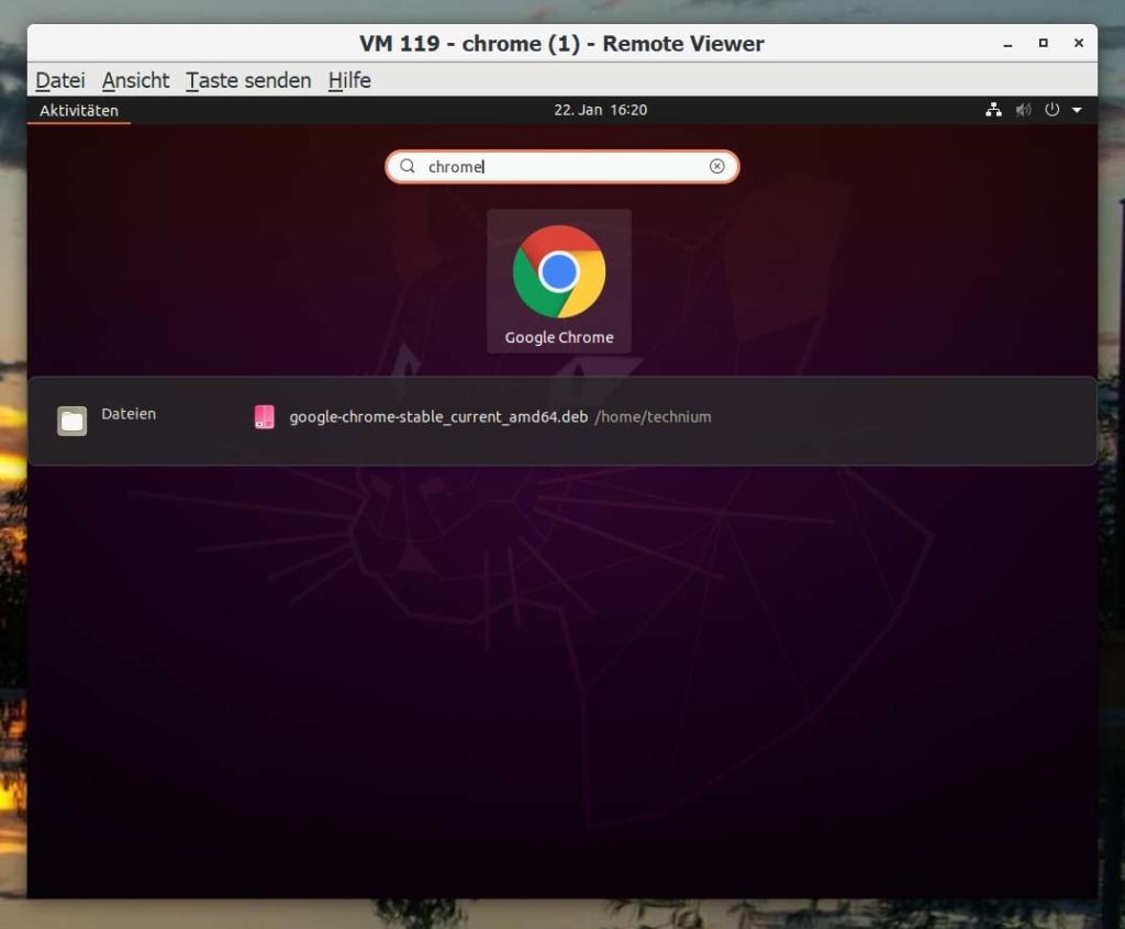 Ubuntu Google Chrome installieren - search
