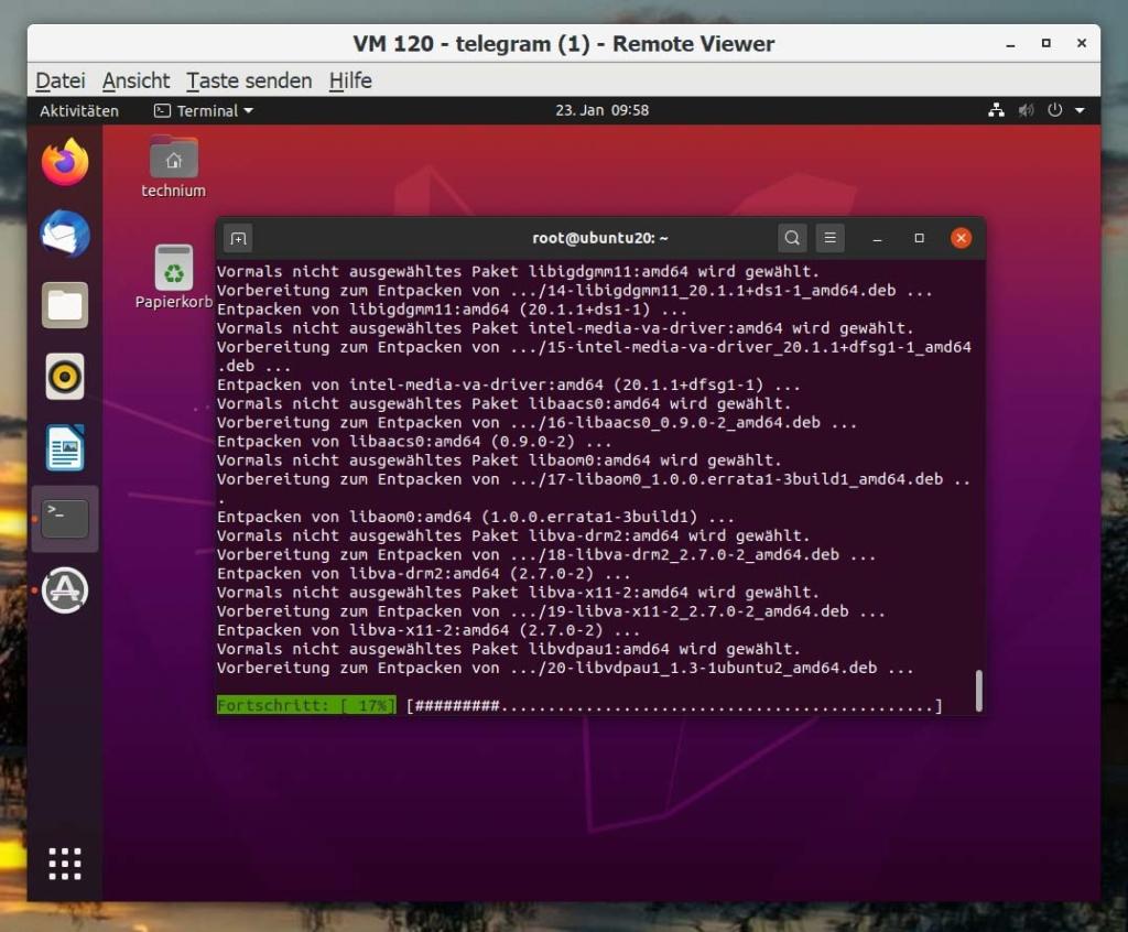 Installer Ubuntu Telegram - Installer
