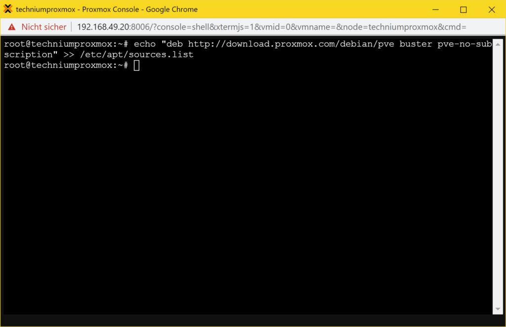 Update Proxmox Communtiy Version - repository