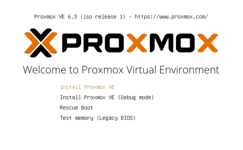 Welcome to Proxmox VE