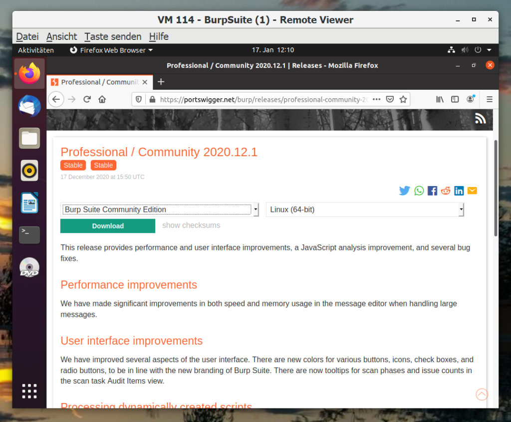Burp Suite Community installieren - Tutorial - download