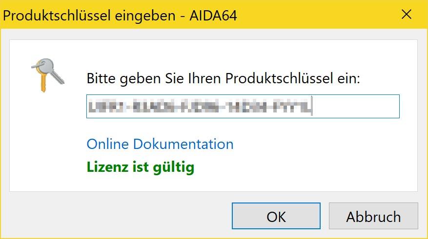 Die beste Prime95 Alternative - AIDA64 - lizenz aktivieren