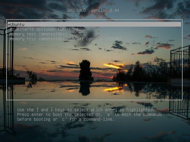 Grub2 Hintergrundbild anpassen