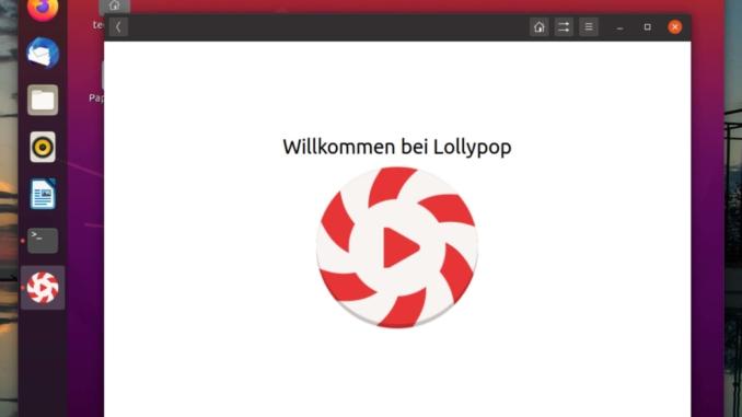 Ubuntu Lollypop Music Player installieren - lollypop welcome