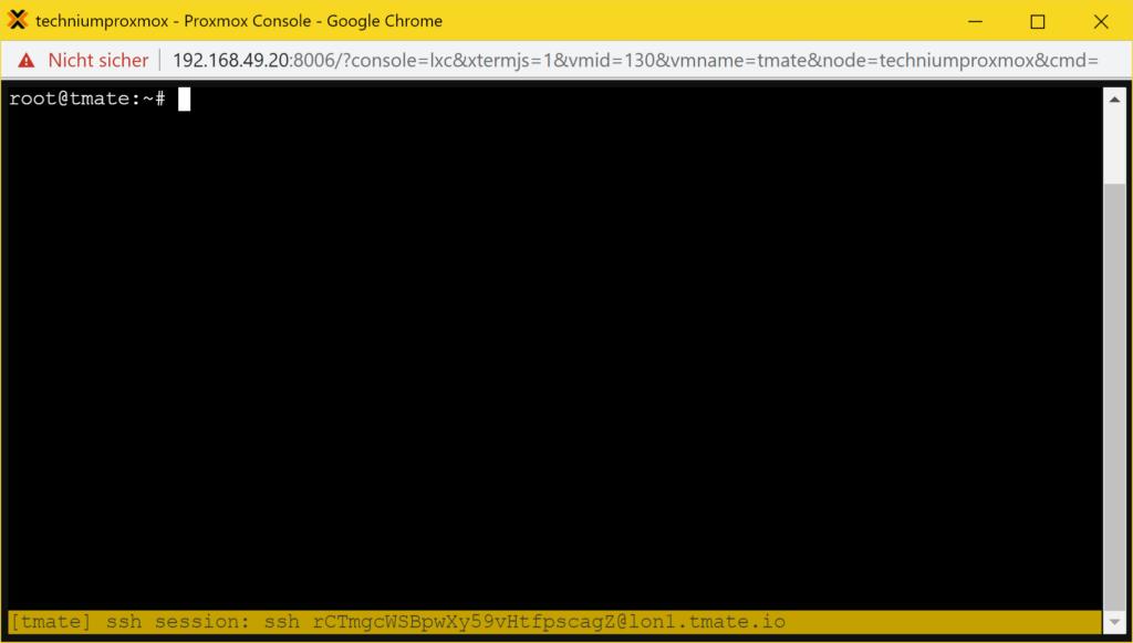 Installer Debian tmate - tutoriel - tmate