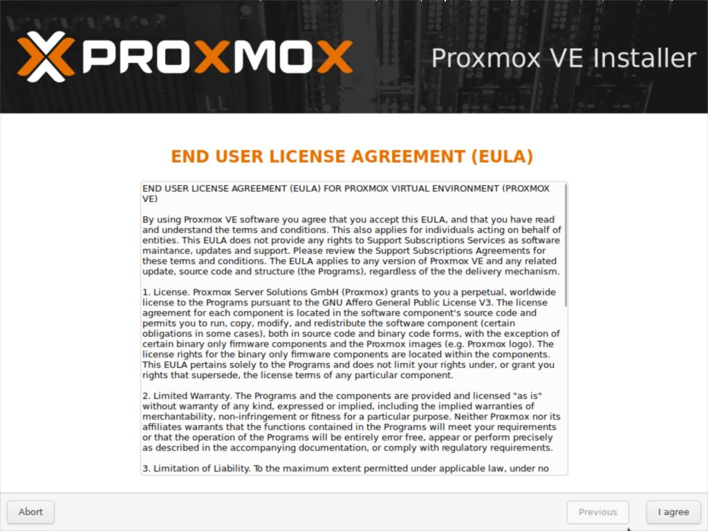 Proxmox VE Installer
