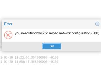 Proxmox ifupdown2 installieren - you need ifupdown2 to reload network configuration (500)