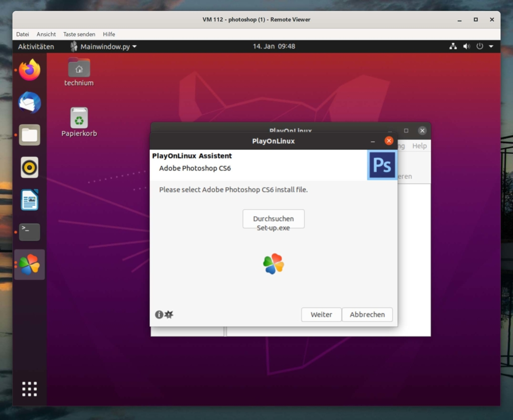 Debian Photoshop installieren - Tutorial