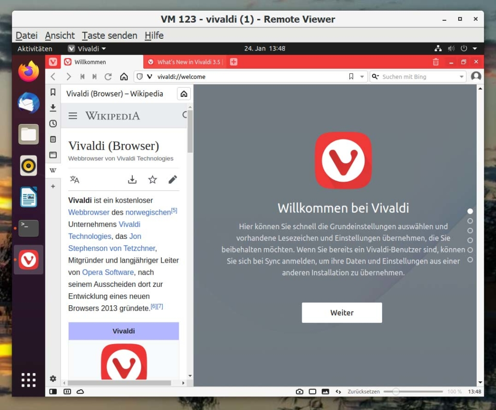 Debian Vivaldi Browser installieren - Tutorial - sidebar