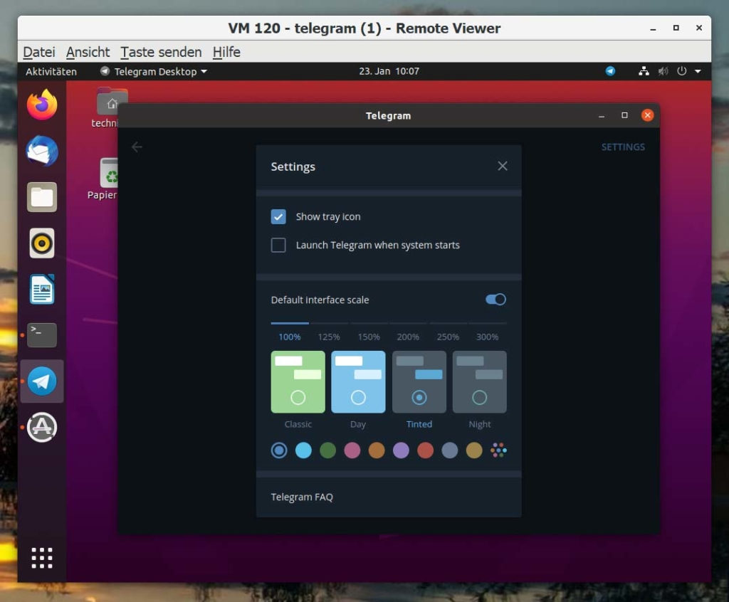 Installer les paramètres de télégramme Ubuntu