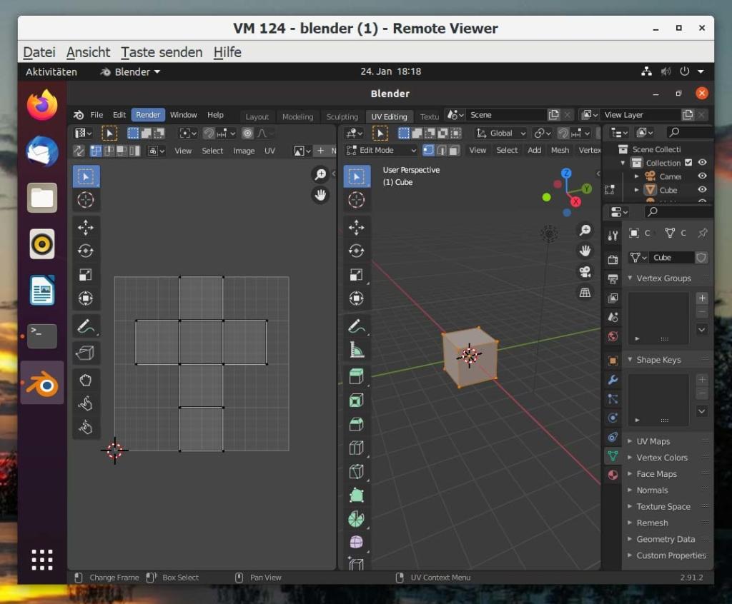 Debian Blender installieren - UV editing