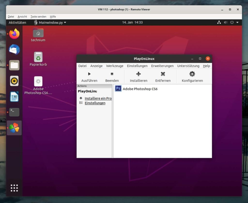 Debian Photoshop installieren - Tutorial - installed