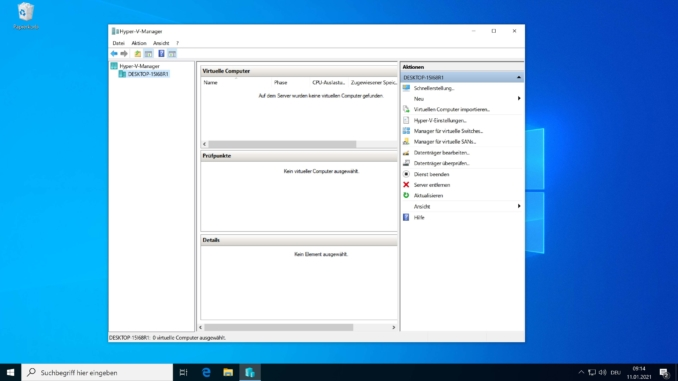 Windows 10 Hyper-V installieren - Hyper-V
