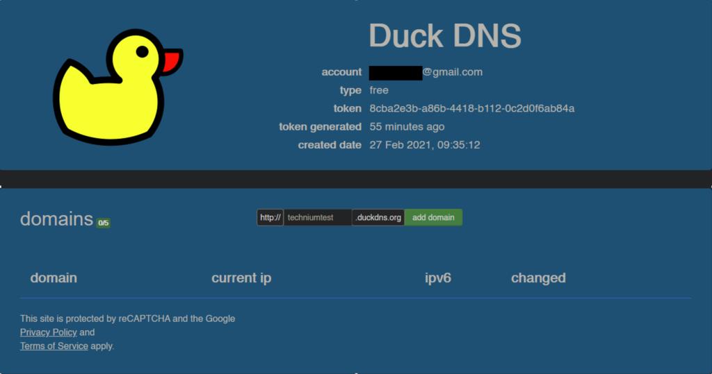 Duckdns-create-subdomain