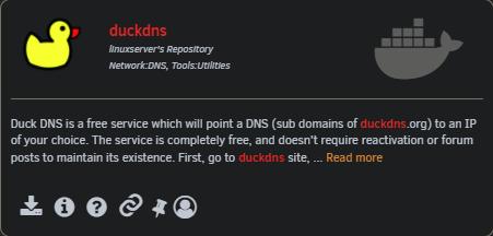 Duckdns-Docker-installieren
