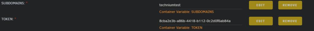 Duck DNS config