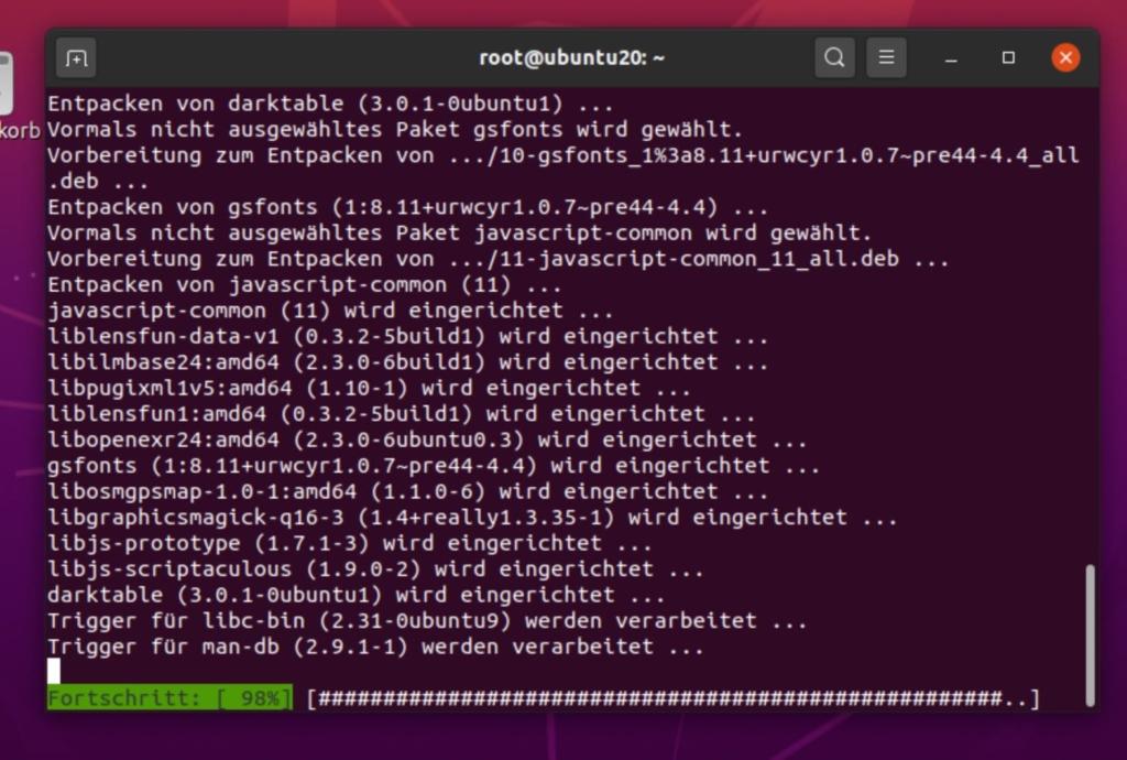 Debian darktable installieren - install