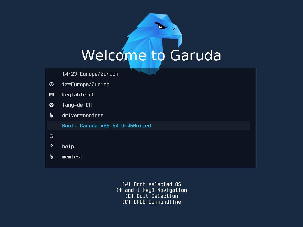 Garuda Linux installieren - boot