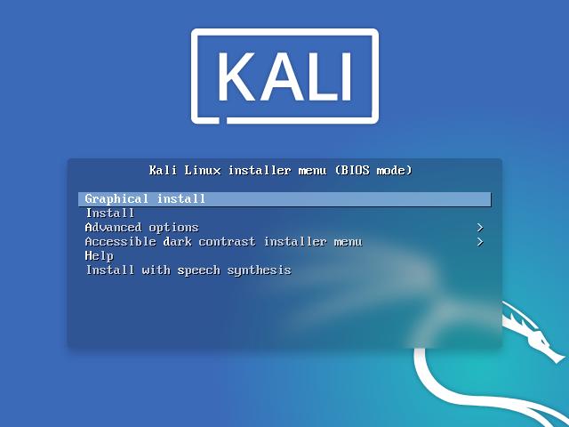 Kali Linux installieren - boot