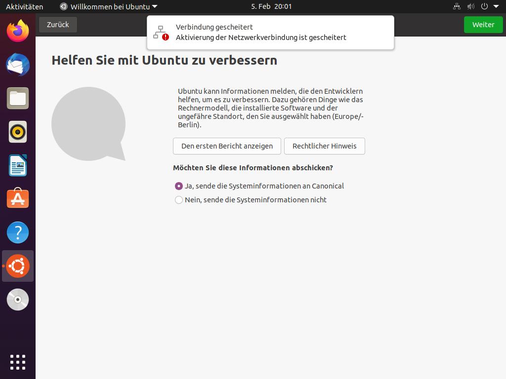 Ubuntu 21.04 installieren - ubuntu helfen
