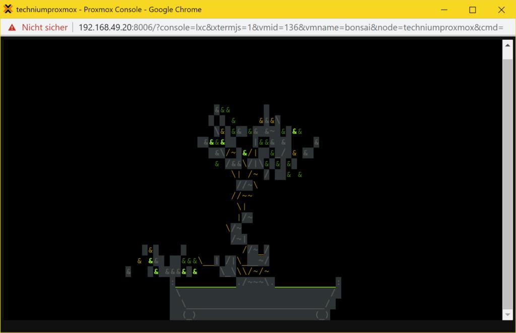 Linux Bonsai Tree Generator