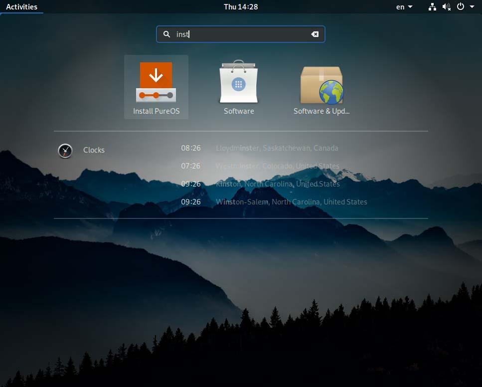 PureOS installieren - start installer