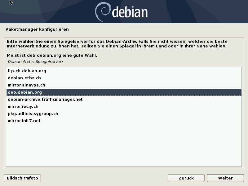 Debian 10.8.0 Server installieren - paketmanager2