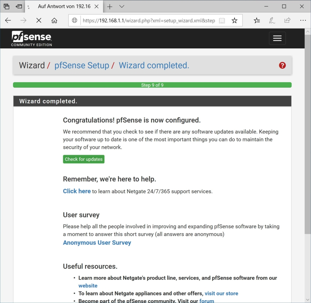 pfSense 2.5.0 installieren - setup 9