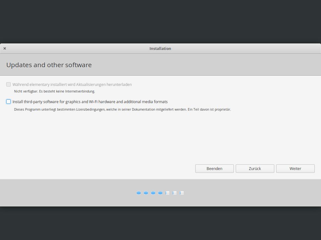 Elementary OS 5.1 installieren - updates