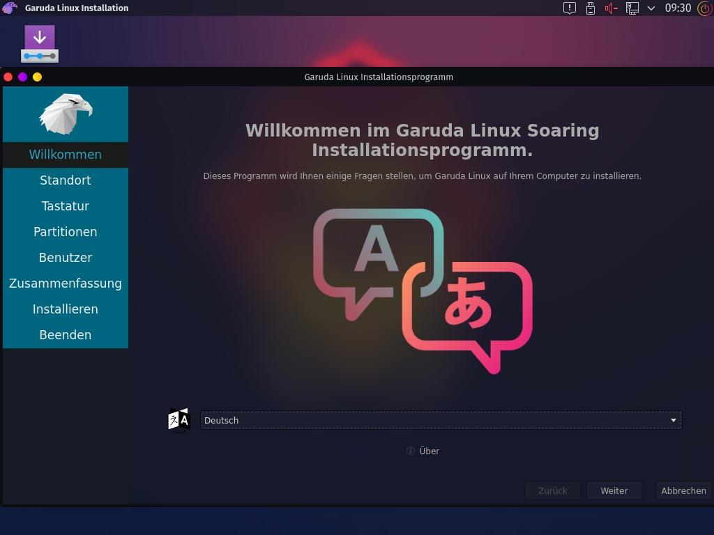 Installez Garuda Linux - Bienvenue