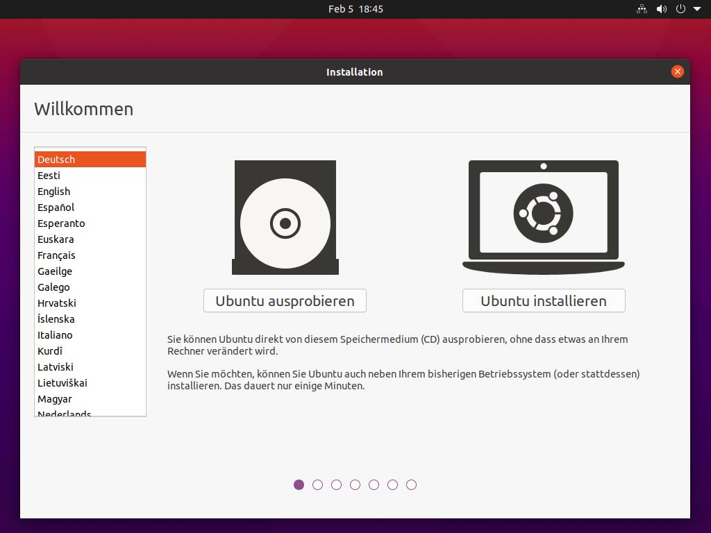 Ubuntu 21.04 installieren - ubuntu installieren