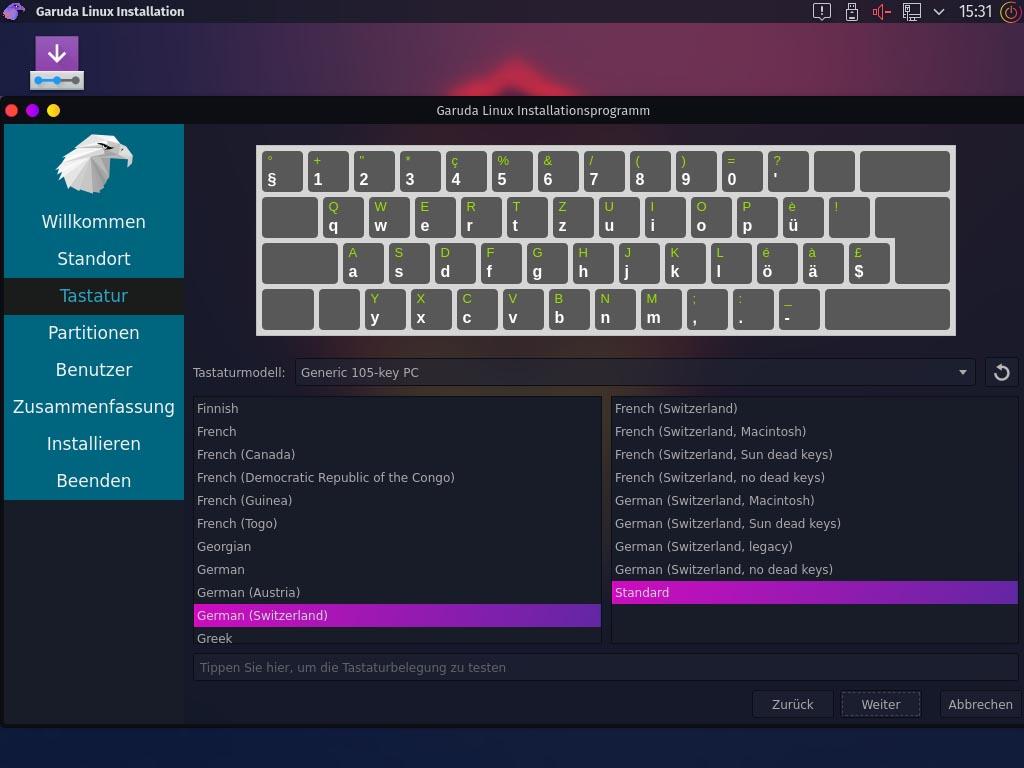 Installer le clavier Garuda Linux
