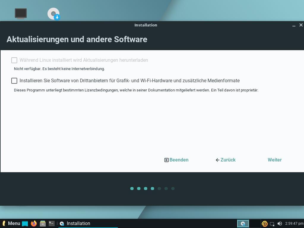Linux Lite 5.2 installieren - aktualisierungen
