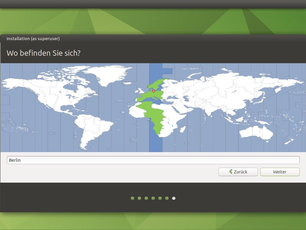 Ubuntu MATE 20.10 installieren - zeitzone