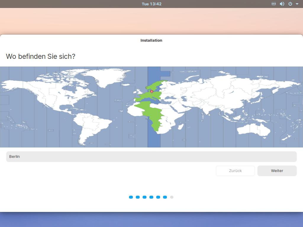 Zorin OS 15.3 installieren - location