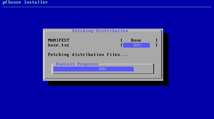 pfSense 2.5.0 installieren - installing