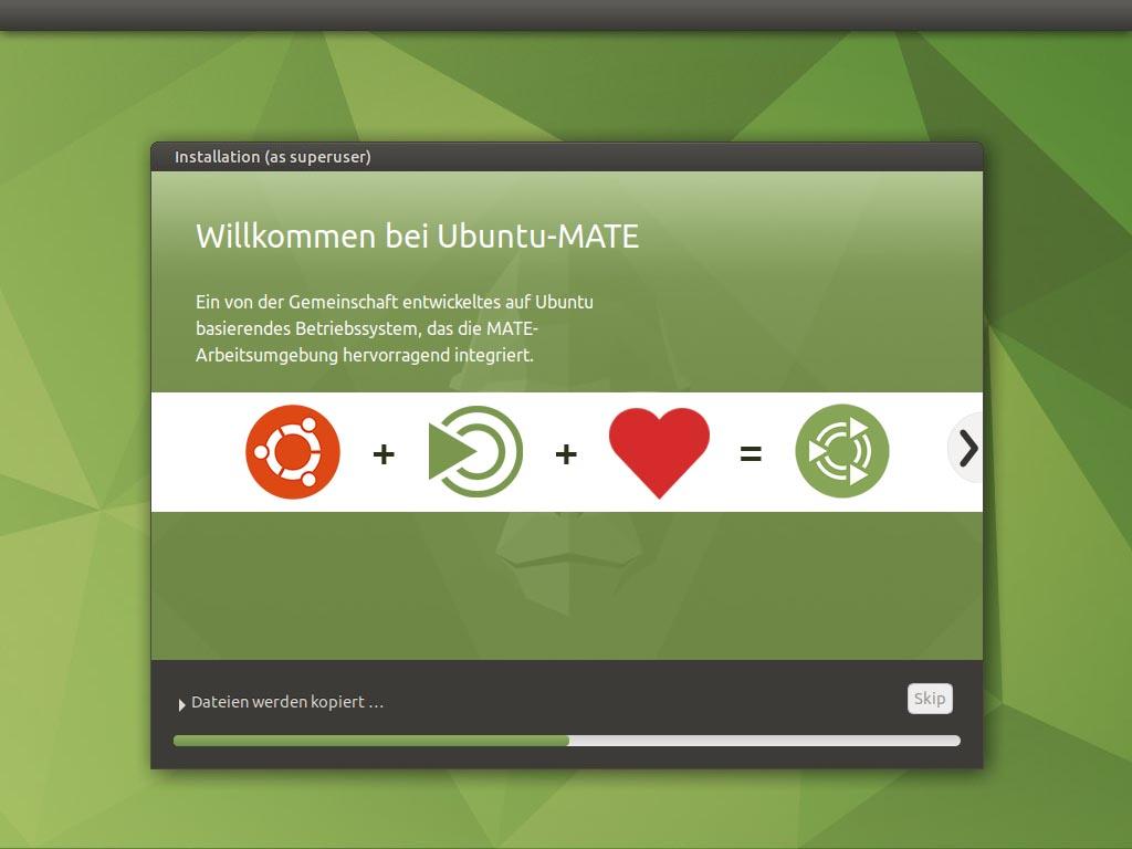 Ubuntu MATE 20.10 installieren - installieren