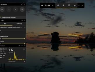 Windows 10 Bildschirmaufnahme