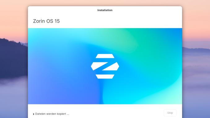 Zorin OS 15.3 installieren - installing