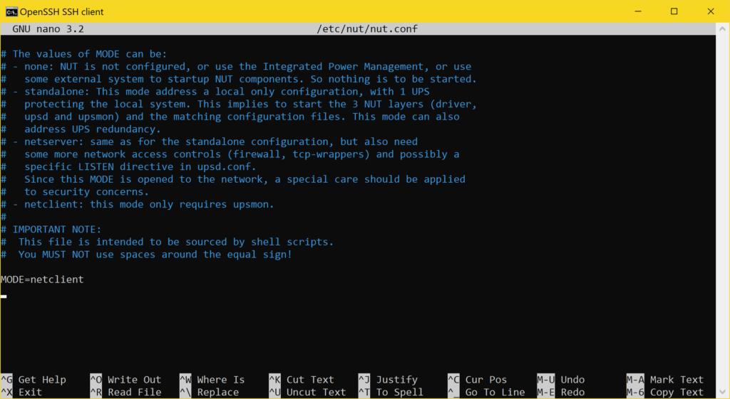 Proxmox NUT Client einrichten - USV verwenden - NUT Konfiguration