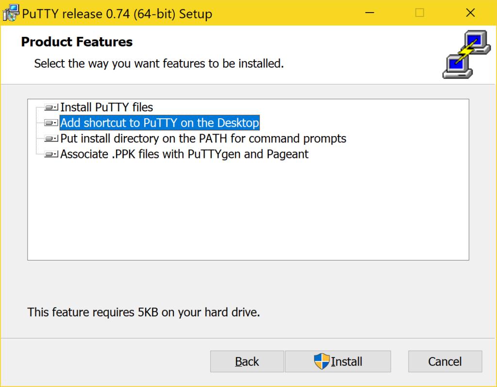 PuTTY richtig verwenden - Installieren - Product Features