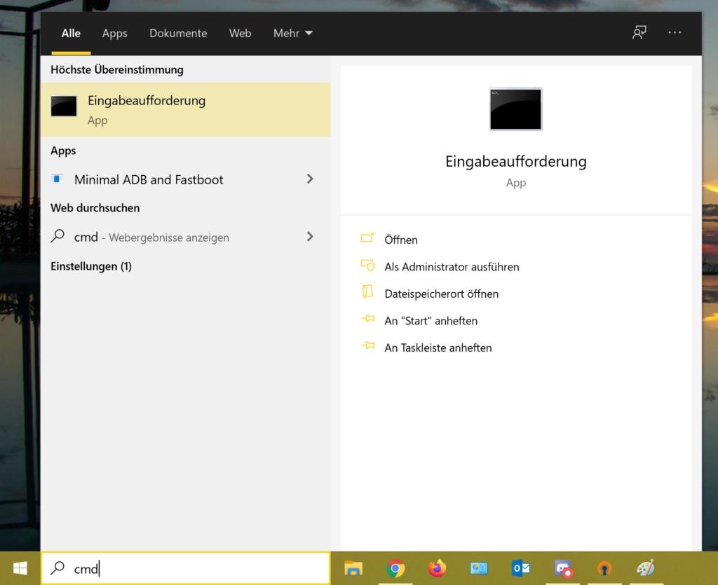 Windows 10 SSH Client - CMD öffnen