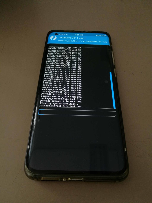 Xiaomi Mi 10 EU ROM Update - Updating